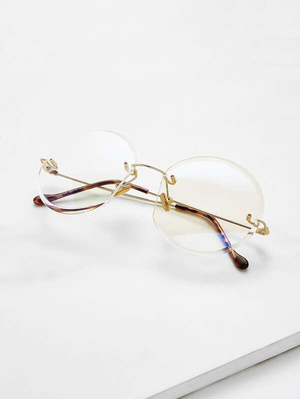 b3d76d1052a Metal Frame Rimless Glasses