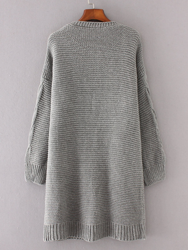 b9c69a5246cc Cheap Cable Knit Longline Chunky Cardigan for sale Australia | SHEIN