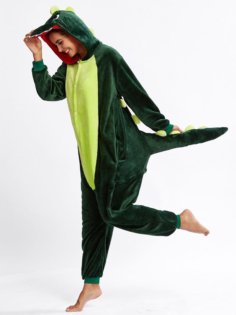 a6237b84 Mono de pijama con diseño cocodrilo de entrepierna caída