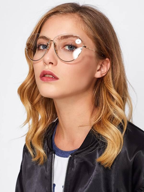 Gafas sin montura con lentes transparentes -Spanish SheIn(Sheinside)