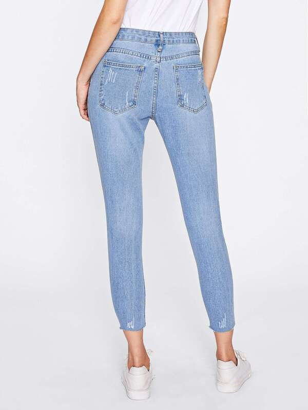 c43efead545b Extreme Distressing Jeans | SHEIN IN
