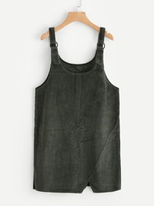 Cut Out Hem Ribbed Overall SHEIN