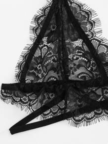 78ed4fd411b95 Harness Detail Eyelash Lace Bralette