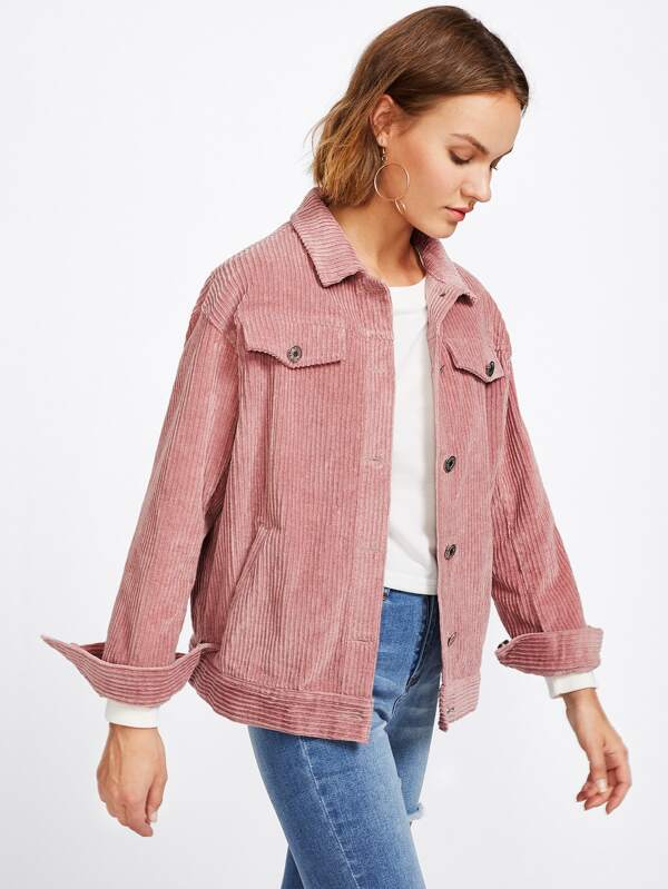 Cord jacket pink