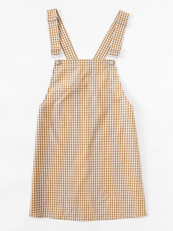 5703a45a801fe Gingham Pinafore Dress | SHEIN UK