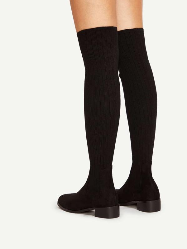 17e7df2143 Cheap Almond Toe Over Knee Sock Boots for sale Australia | SHEIN