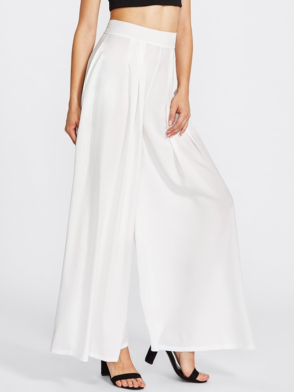7701c14df5 Pleated Detail Palazzo Trousers