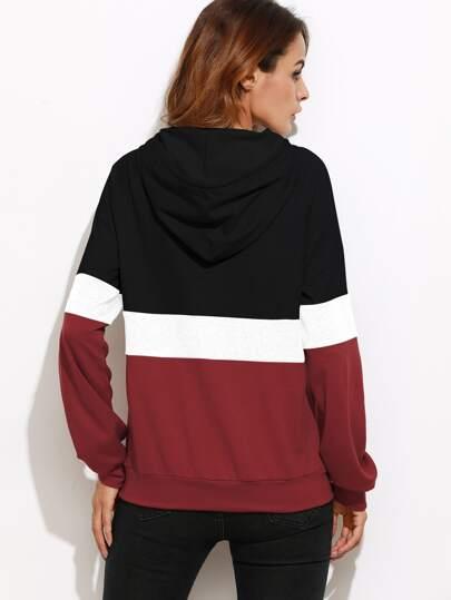 0002973b2a Shein Cut And Sew Raglan Sleeve Pocket Hoodie in 2019