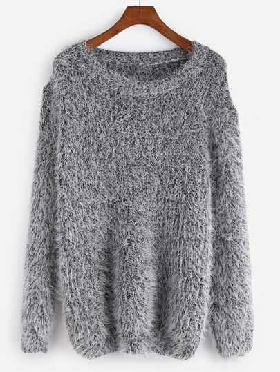 Fuzzy Chunky Knit Sweater pictures