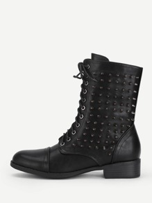 Lace Up Studded Boots