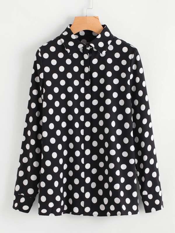 4c9f508939470c Polka Dot Blouse | SHEIN UK