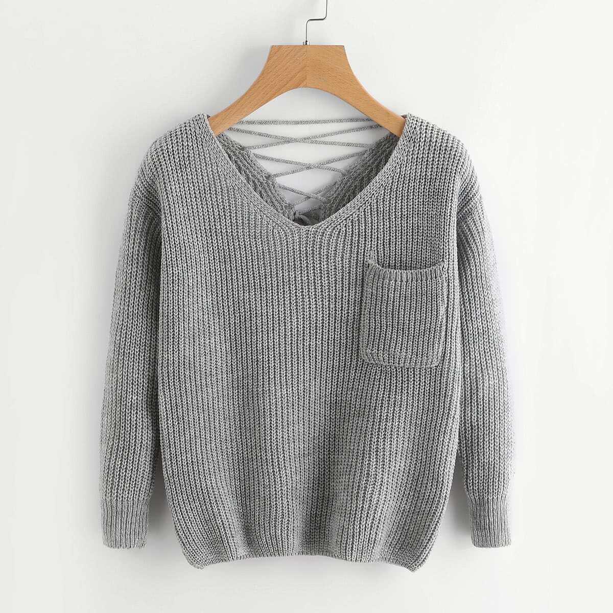 SHEIN Knitwear met borstzakje