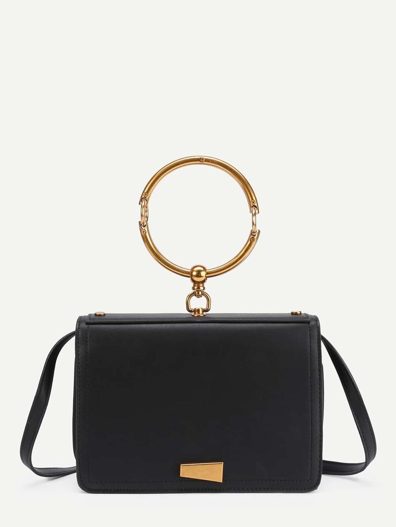 Pu With Detail Handle Bag Metal Shoulder Ring sCxrdthQBo