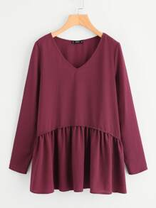 Frill Trim Smock Top