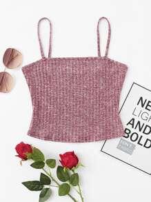 Rib Knit Marled Cami Top vest170927704