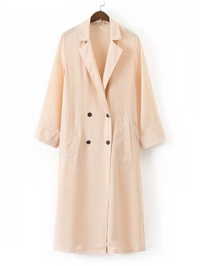 Double Breasted Longline Trench Coat