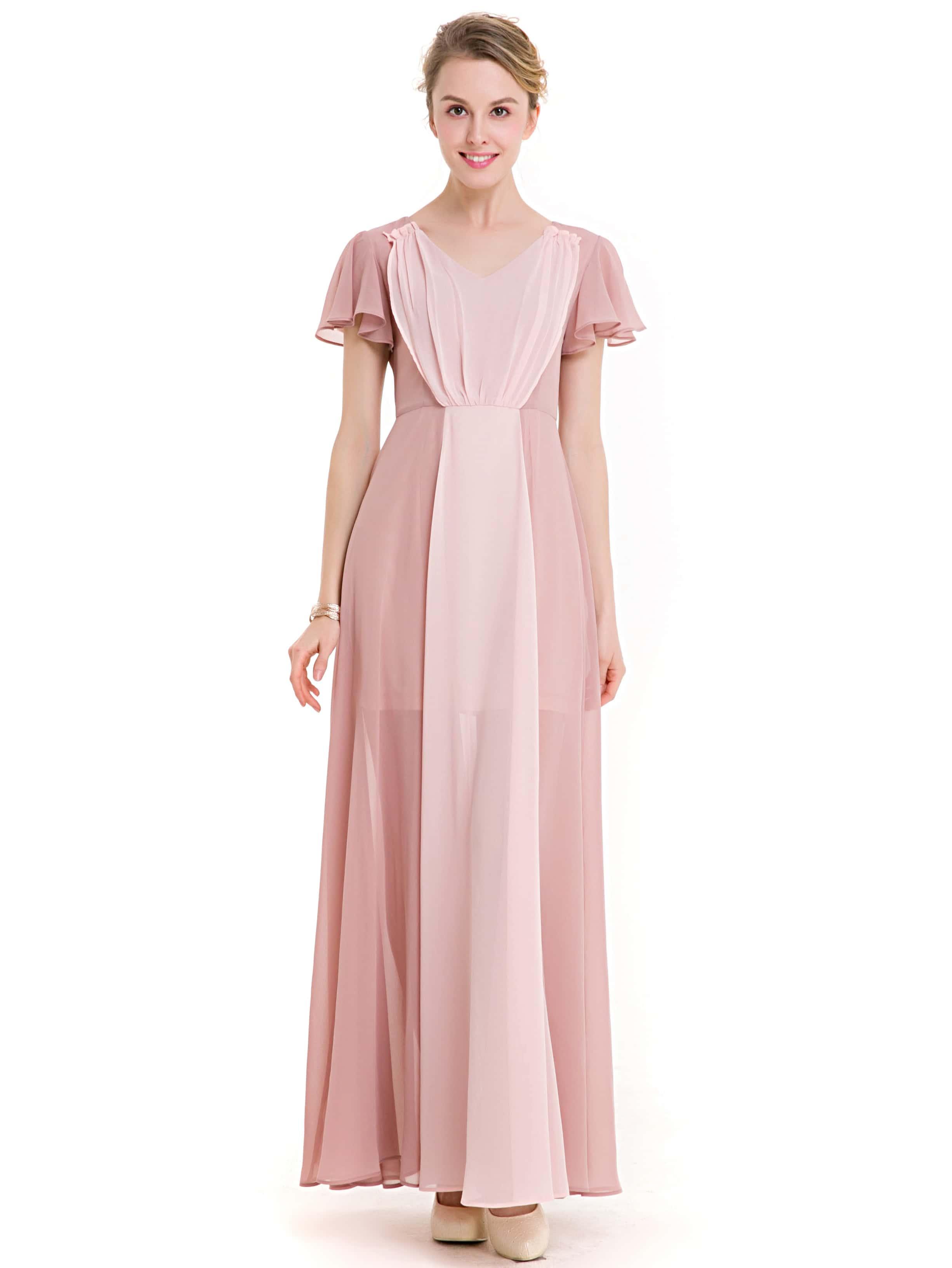 Fantástico Modestos Vestidos De Dama De Color Púrpura Imágenes ...