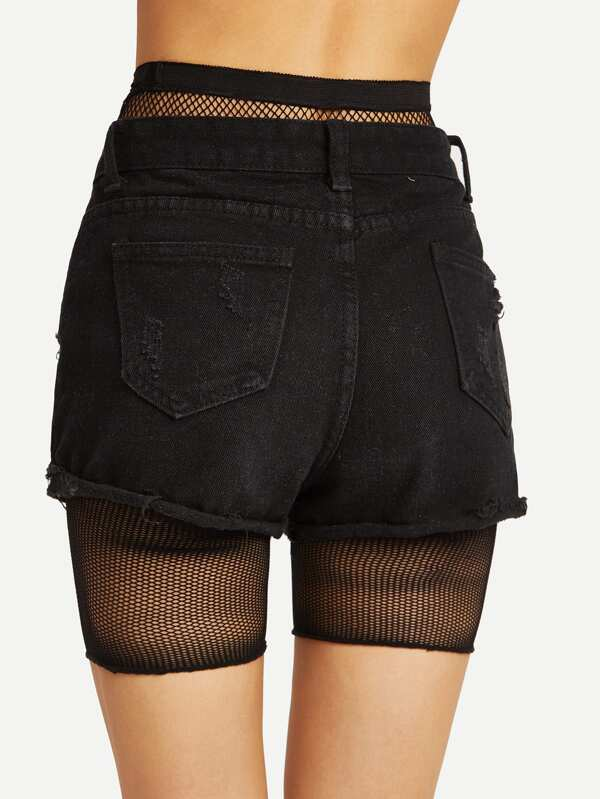 abe662621af35 Fishnet Legging Shorts | SHEIN