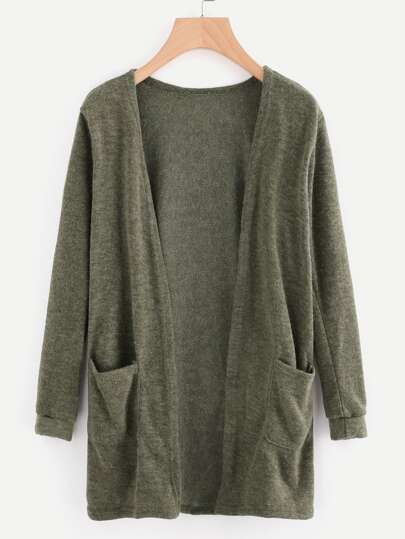 38a40fc3d07e Open Front Cardigan With Pockets