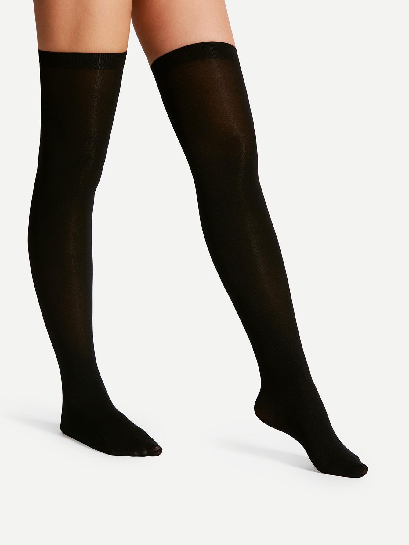 Over The Knee Plain Socks
