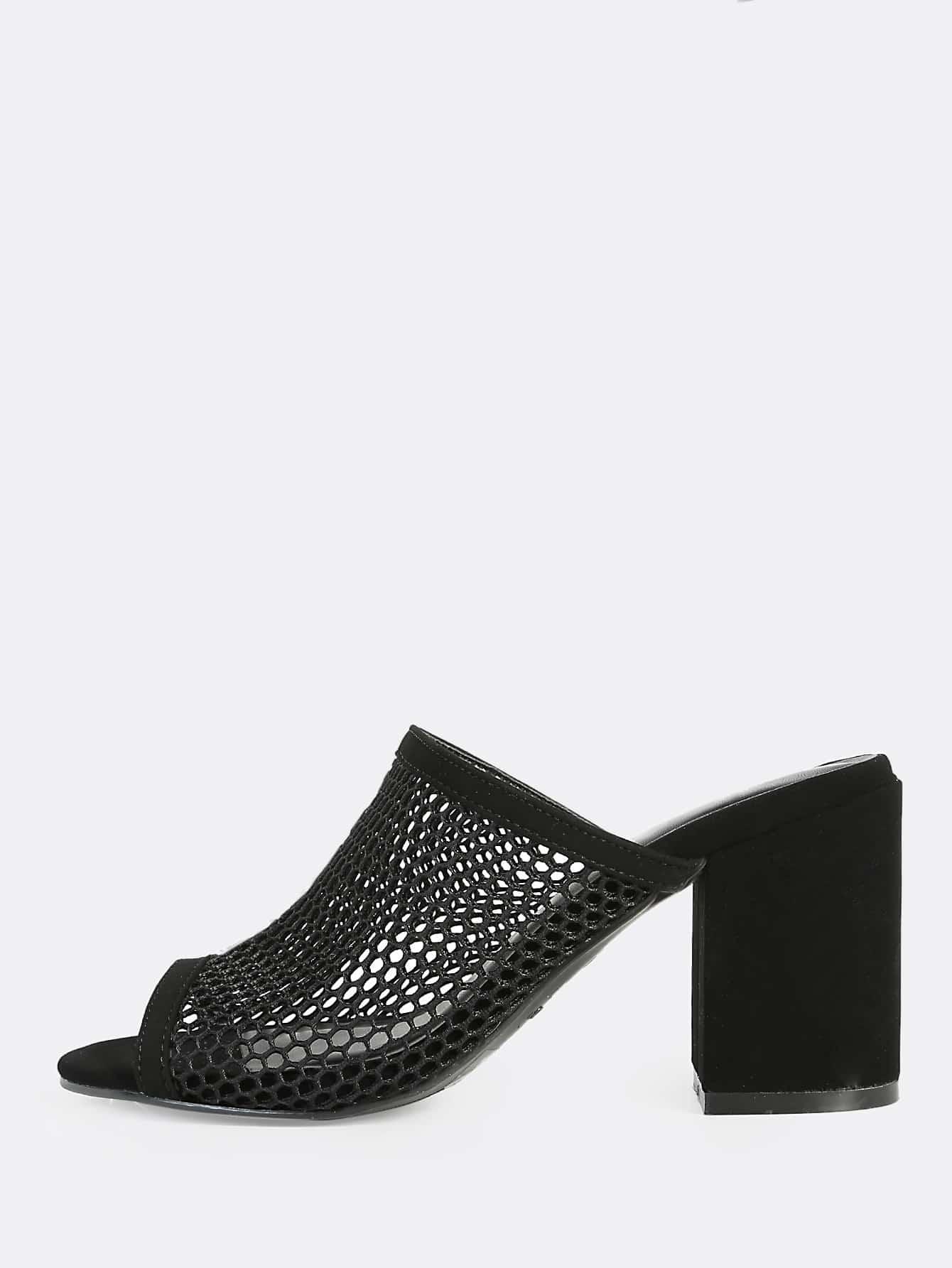 online sale Trademark Felt Peep-Toe Mules best sale prices sale online qJUdx