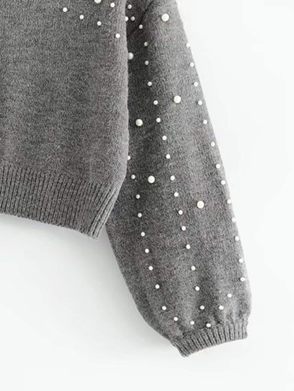 4745ef8a78 ... Long Sleeve · Fall · Pullovers. Lantern Sleeve Faux Pearl Crop Sweater.  AddThis Sharing Buttons