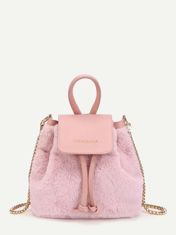 6cd0e0fde5 Faux Fur Bucket Bag