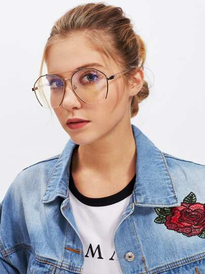 Top Bar Oversized Glasses