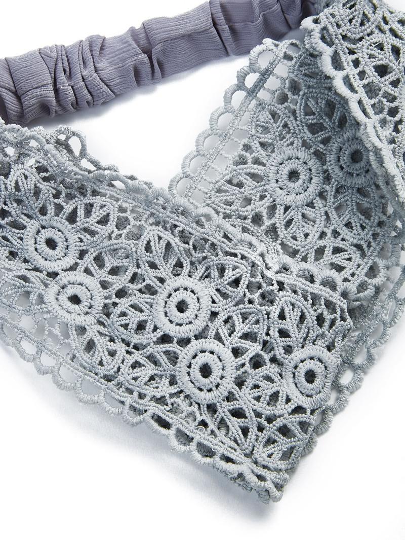 e94c1a7e9 Diadema crochet de encaje