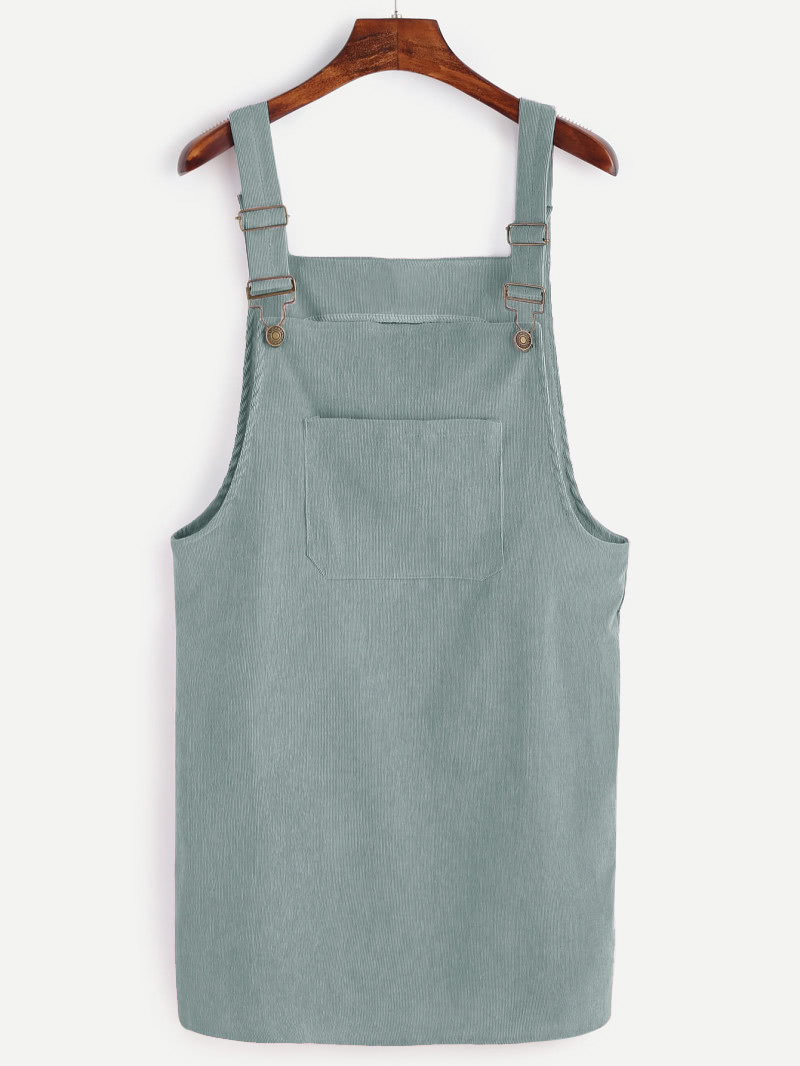 1a7cd547bb8 Front Pocket Corduroy Pinafore Dress