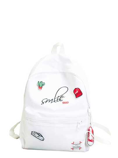 With html Embellished cat 396652 2151 Patch Tassel Backpack p f7WqSE
