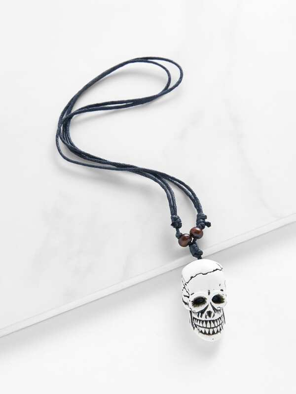 Skeleton design pendant necklace sheinsheinside aloadofball Image collections