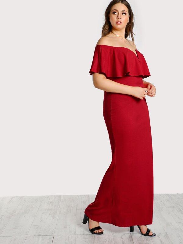 6bc5a31f6e2e Cheap Plus Frill Off Shoulder Dress for sale Australia