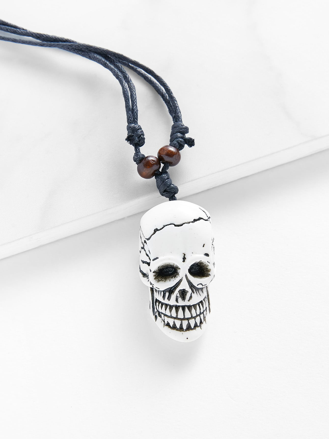 Skeleton design pendant necklacefor women romwe skeleton design pendant necklace aloadofball Image collections