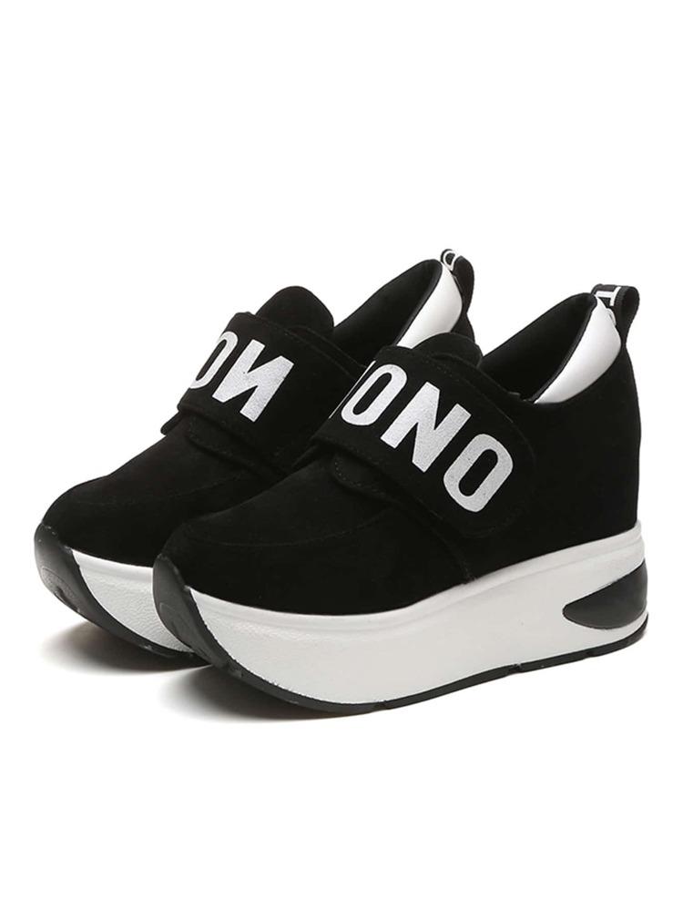 Zapatos Plataforma Con Y Plataforma Zapatos Con Slogan eBroxWQdCE