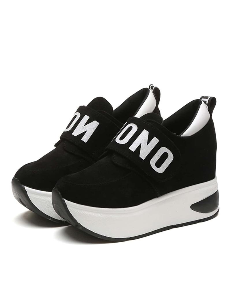 Chaussures avec velcro du slogan