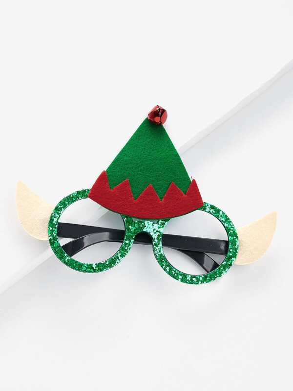 Montura de gafas navideña con sombrero de navidad -Spanish SheIn ...