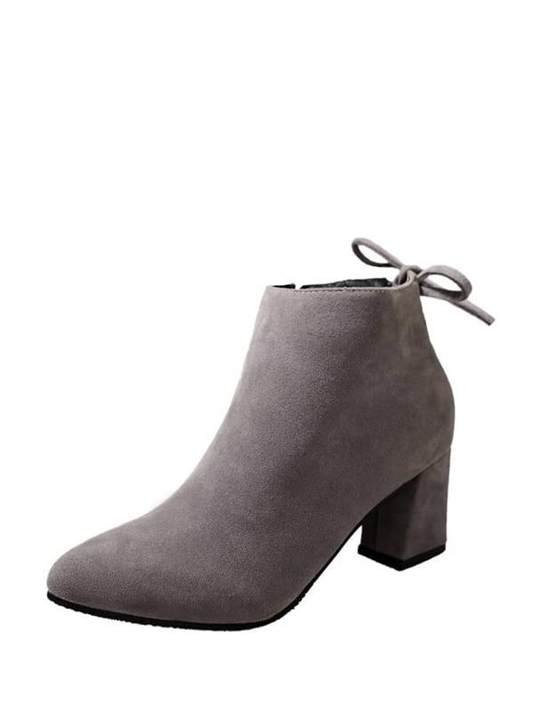 bbc98737c حذاء كعب عالي رمادي اللون-جذاب | شي إن