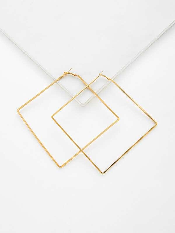 1c4b659fa30d7 Geometric Hoop Earrings 1pair