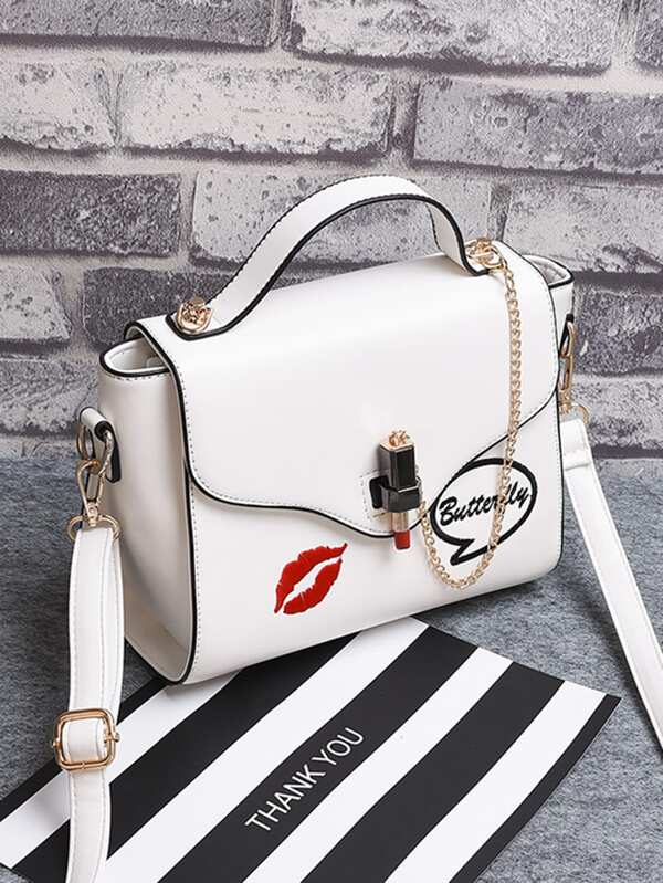 f30f7a587 Cheap Chain Detail Print Flap Crossbody Bag for sale Australia | SHEIN