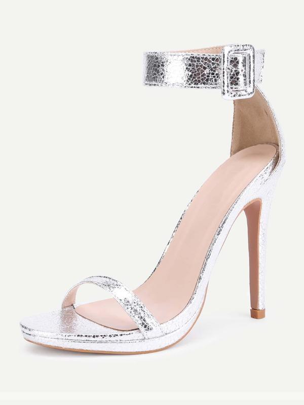 41e59c9165e Two Part Ankle Strap Stiletto Sandals