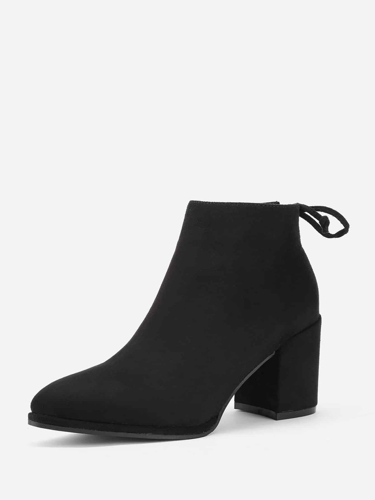 de6c48463e Lace Up Back Block Heeled Ankle Boots | SHEIN