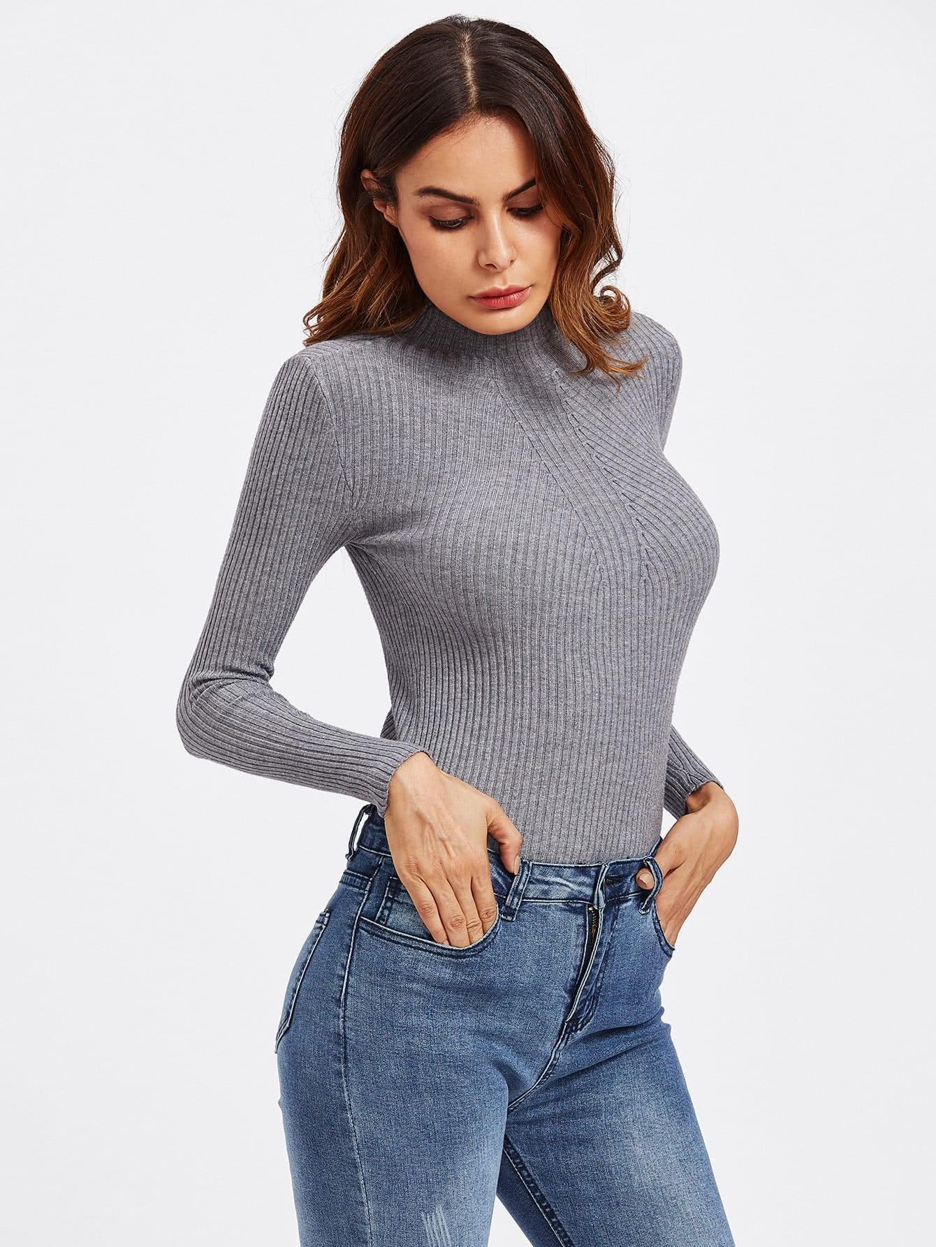 Orange Turtleneck Sweater   Her Sweater