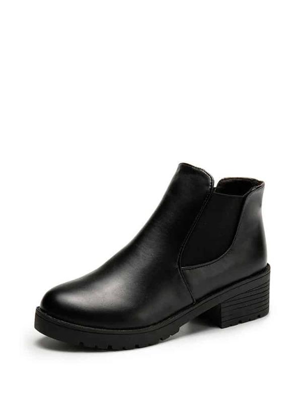 de051f62965 Faux Leather Ankle Boots