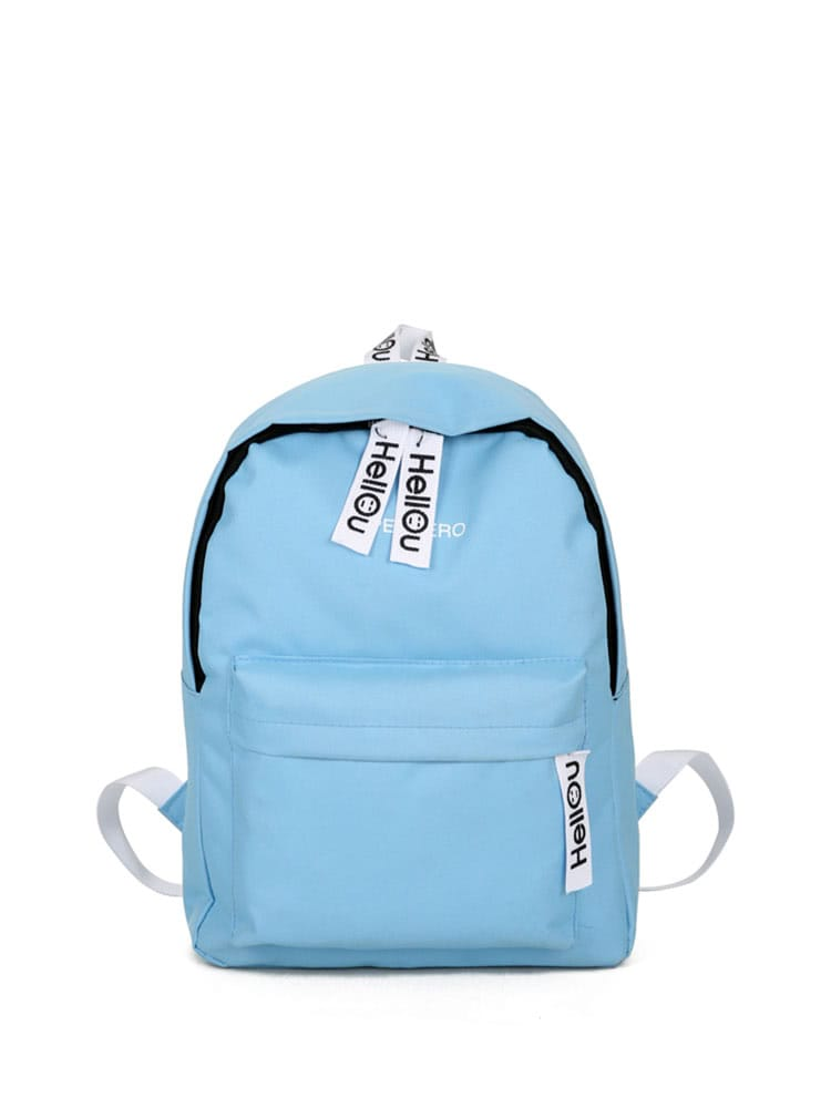 122c10144040 Double Zipper Canvas Backpack EmmaCloth-Women Fast Fashion Online