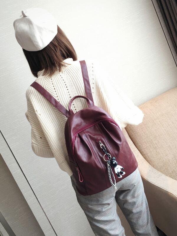 401795 PU Zipper html cat Backpack 2151 Front p gI7Hq1xwcI