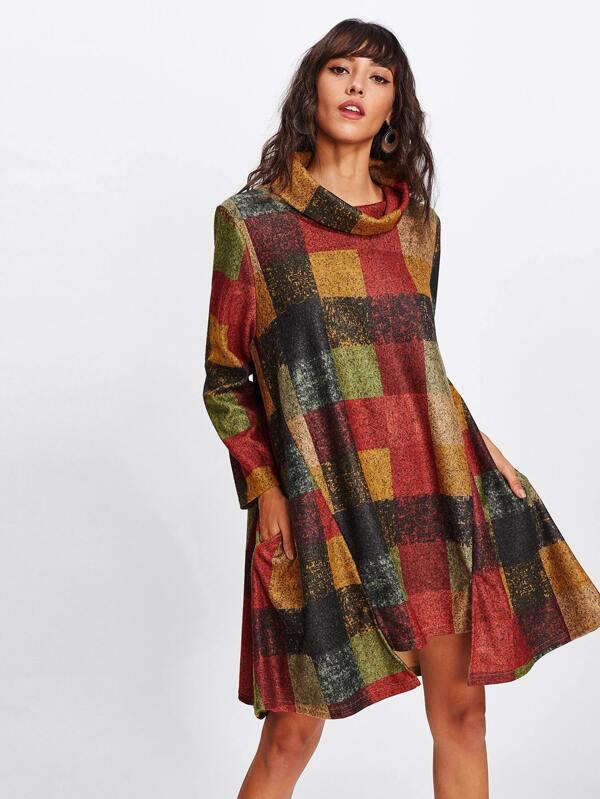 Kleid mit Trichterhals- German SheIn(Sheinside)