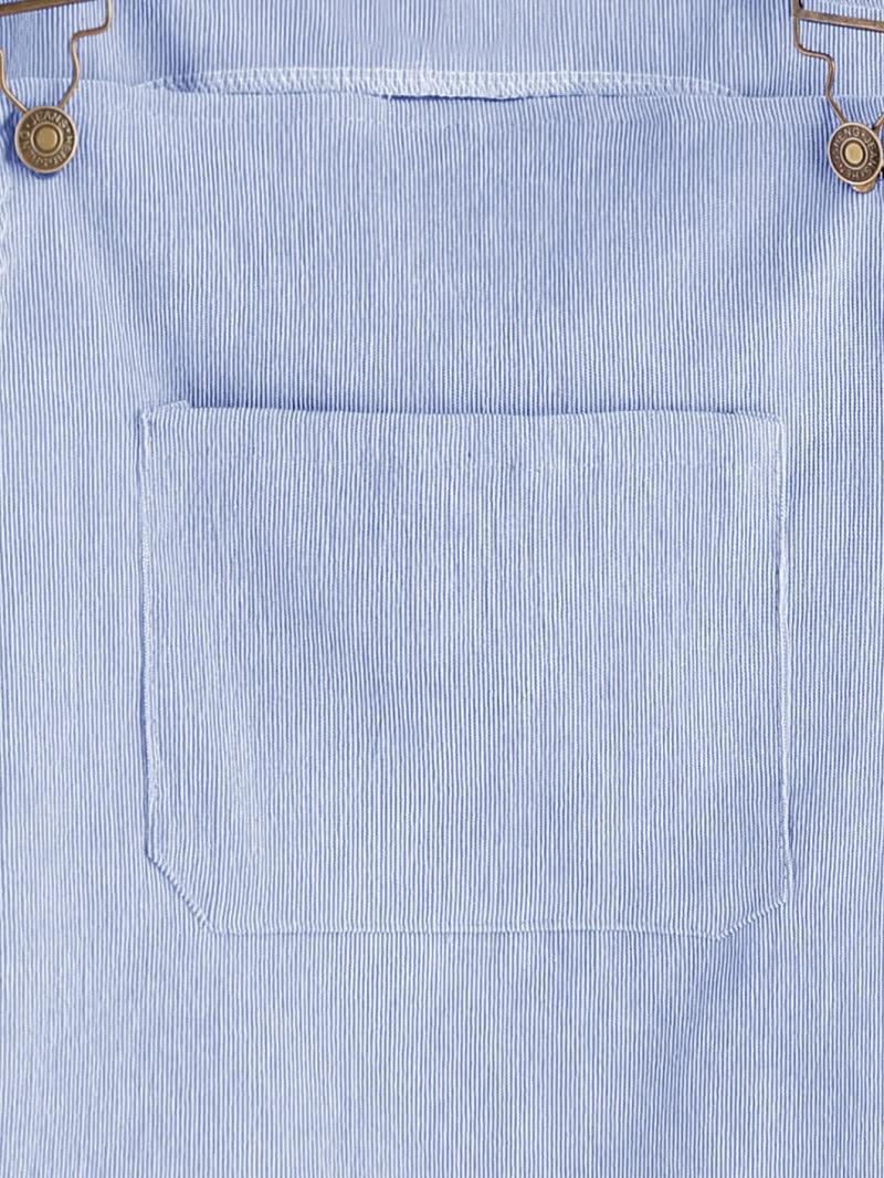 779bbda06ca Front Pocket Striped Pinafore Dress