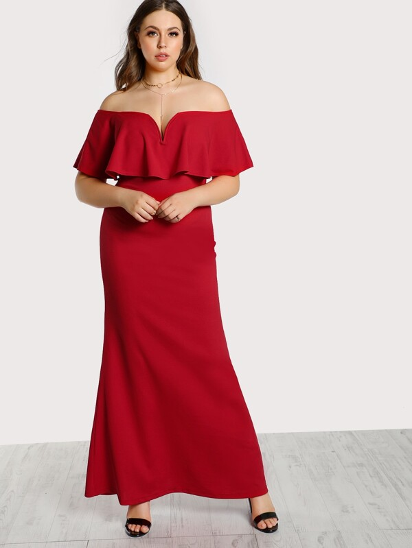 3b142db3ed7a7 Cheap Plus Frill Off Shoulder Dress for sale Australia