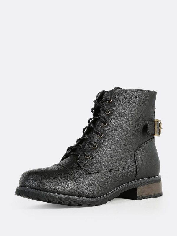 5363578a39 Lace Up Combat Boots BLACK | SHEIN